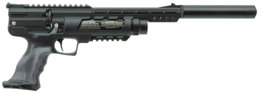 Weihrauch HW44 PCP Air Pistol with HW Moderator