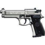 Beretta 92FS Nickel, Black Grips