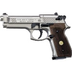 Beretta 92FS Nickel, Wood Grips
