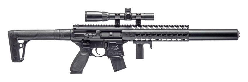 SIG Sauer MCX w/ 1-4x24 Scope .177 Black CO2 Air Rifle