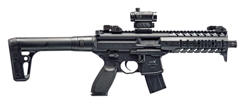 SIG Sauer MPX Red Dot .177 Black CO2 Air Rifle