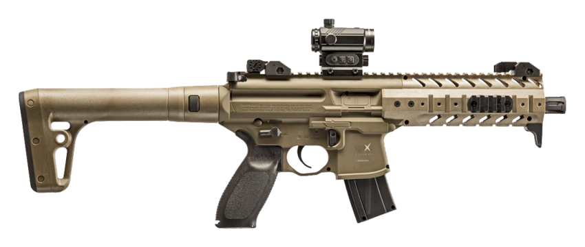SIG Sauer MPX Red Dot .177 Flat Dark Earth CO2 Air Rifle